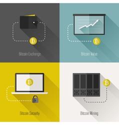 Bitcoin flat concept vector