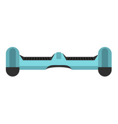 Blue dual wheel self balancing skateboard icon vector