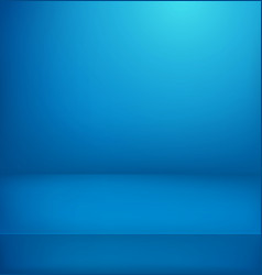 Blue illuminated room advertising layout vector
