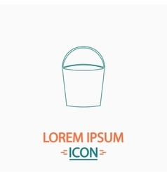 Bucket computer symbol vector
