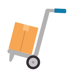 cart with box delivery service vector image