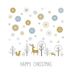 Christmas snow vector image