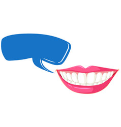 Clean teeth and speech bubble template vector