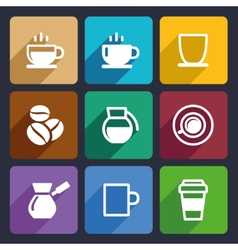 Coffee Flat Icons Set 43 vector