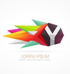 Colorful abstract logo with letter Y vector
