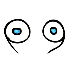 comic cartoon eyes vector image vector image