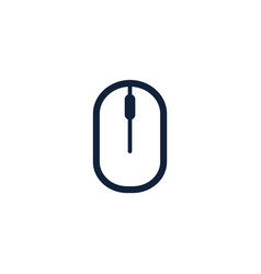 Computer mouse icon symbol flat style design vector