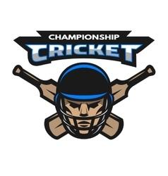 Cricket player and bats vector