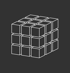 Cubes simple logo concept vector