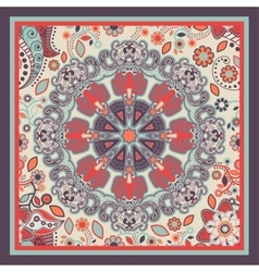 Design for pocket square shawl textile vector