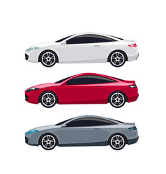 design of luxury sports car sets vector image