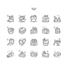 Desserts well-crafted pixel perfect thin vector