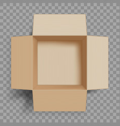 empty open cardboard box vector image