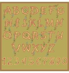 Ethnic Floral Alphabet Unusual font vector