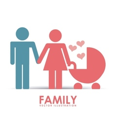 Family happy vector
