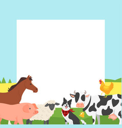 Farm video photo frame vector