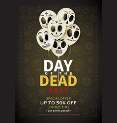 festive flyer of day of the dead sale vector image