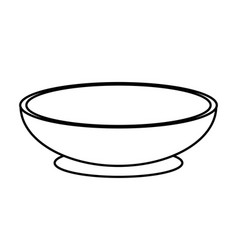 Figure bowl to prepare delicious and healthy vector