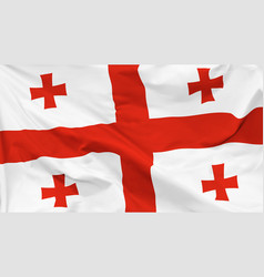 flag georgia vector image
