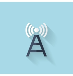 Flat web icon Wireless router vector image