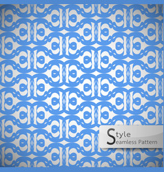 Flower blue lattice vintage geometric seamless vector