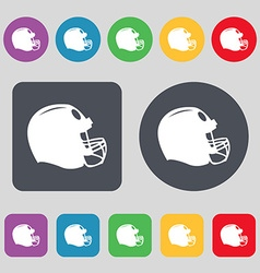 football helmet icon sign A set of 12 colored vector image