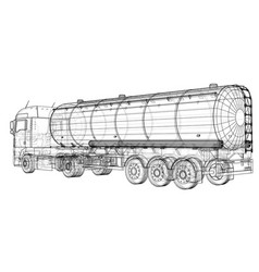 gasoline tanker oil trailer eps 10 format vector image