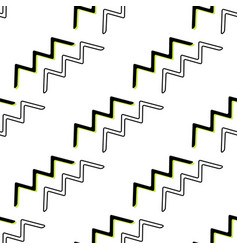 geometric zigzag seamless pattern memphis style vector image