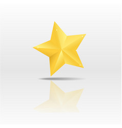 Gold paper star on white background vector