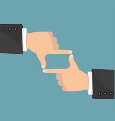 hands businessman frame composition vector image