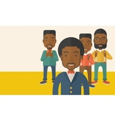 Handsome black businessmen vector image