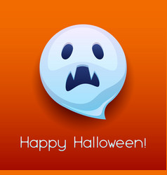happy halloween angry ghost vector image