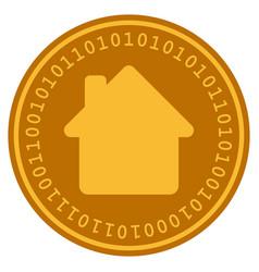 house digital coin vector image
