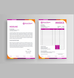 Invoice and letterhead template vector