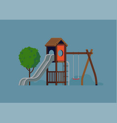 kids playground design element vector image