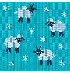Knitted holiday seamless vector image