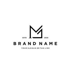 Letter mj logo icon design vector