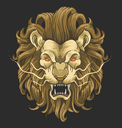 lion head angry face vector image