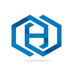 Logo Abstract Symbol Hexa Icon Element vector image