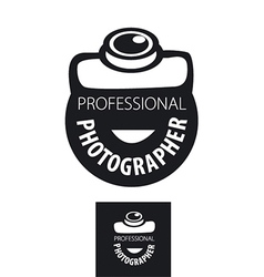 Logo camera for professional photographer vector