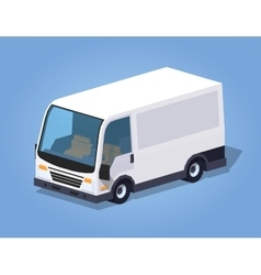 Low poly white cargo van vector