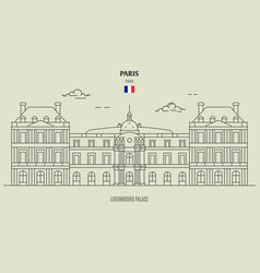 luxembourg palace in paris vector image