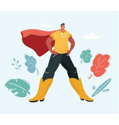 man in superhero wear vector image