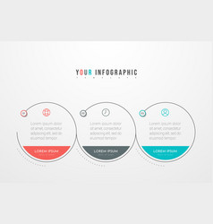 Minimal business infographics template vector