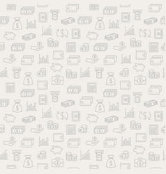 Money seamless pattern background with icons vector