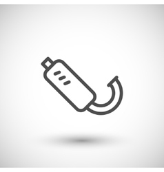 Motorcycle exhaust line icon vector