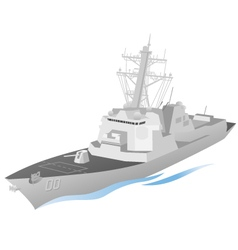 naval ship vector image