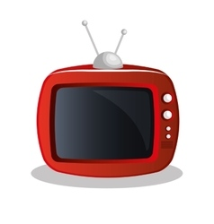 Old tv appliance icon vector