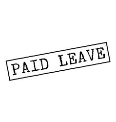Paid leave black rubber stamp vector