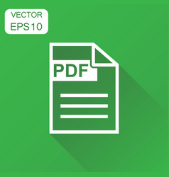 pdf format download icon business concept pdf vector image